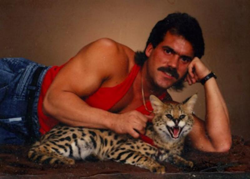 Men Posing With Their Cats 13