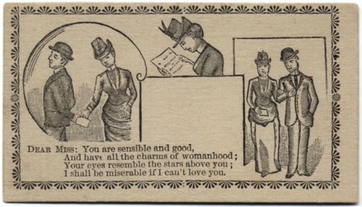 19 century pick up lines - business cards 4