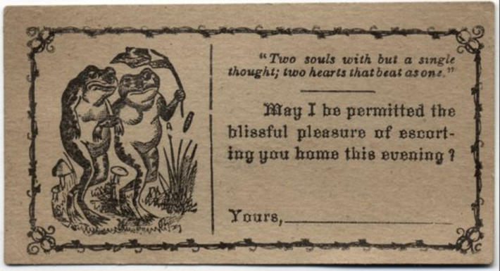 19 century pick up lines - business cards 12