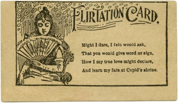 19 century pick up lines - business cards 15