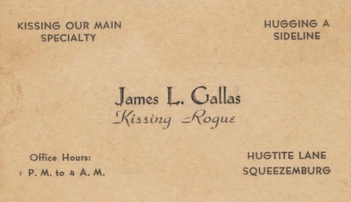 19 century pick up lines - business cards 1