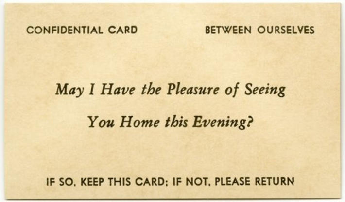 19 century pick up lines - business cards 8