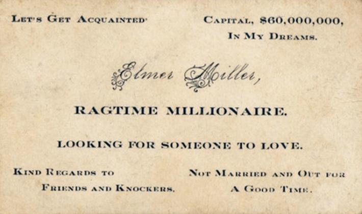 19 century pick up lines - business cards 17