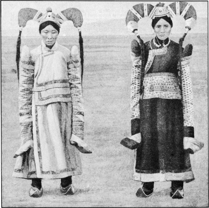 Mongolian Women in Their Traditional Costumes (11)