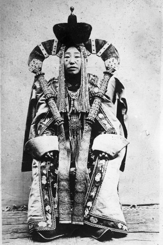 Mongolian Women in Their Traditional Costumes (7)