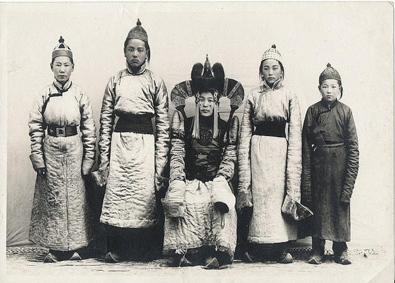 Mongolian Women in Their Traditional Costumes (16)