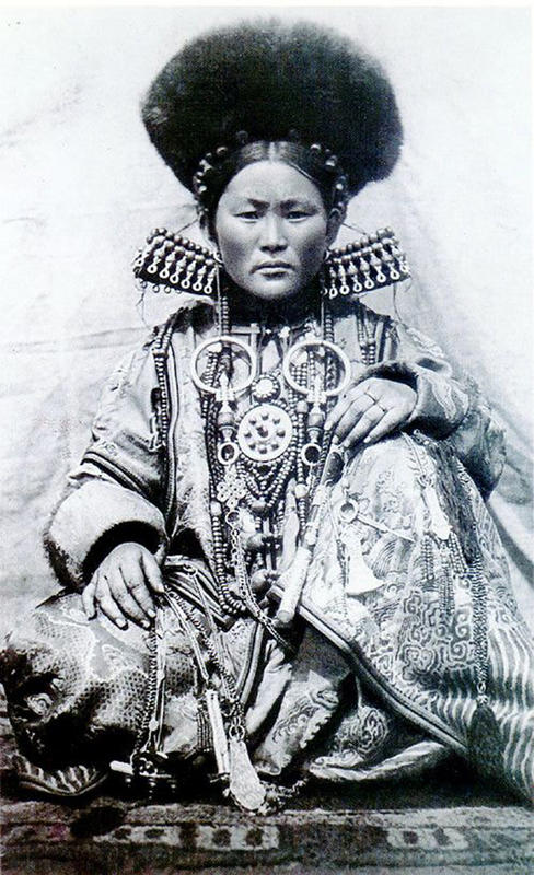 Mongolian Women in Their Traditional Costumes (15)