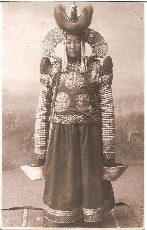 Mongolian Women in Their Traditional Costumes (17)