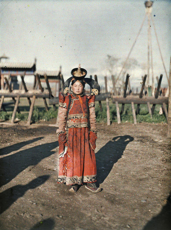 Mongolian Women in Their Traditional Costumes (6)
