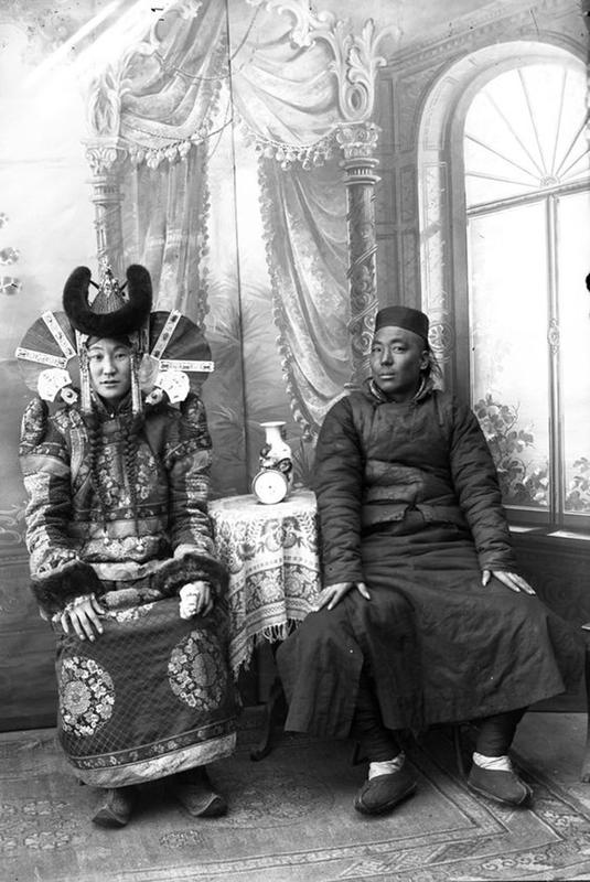 Mongolian Women in Their Traditional Costumes (14)