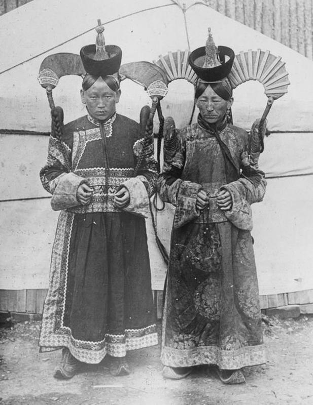 Mongolian Women in Their Traditional Costumes (10)