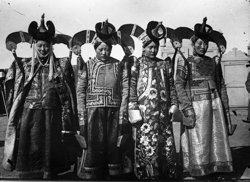 Mongolian Women in Their Traditional Costumes (8)