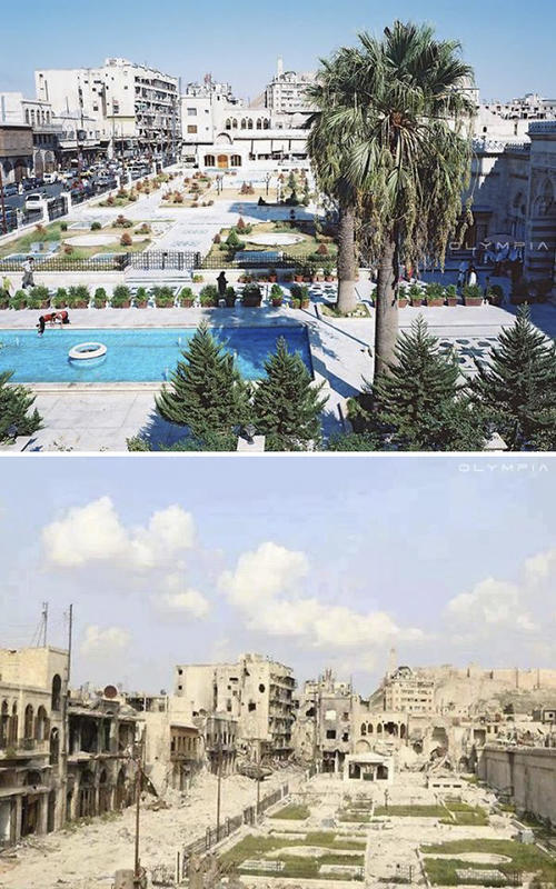 syria before after war 1