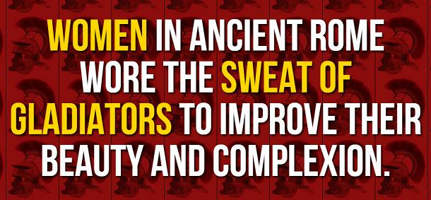 facts about ancient rome - gladiator sweat