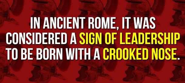 facts about ancient rome - crooked nose