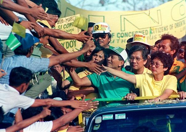 Anti-president Marcos activist and opposition pres